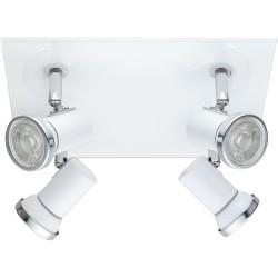 TAMARA Plafonnier 4 spots LED IP44 blanc