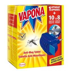 VAPONA Diffuseur Anti-moustiques+Tablettes