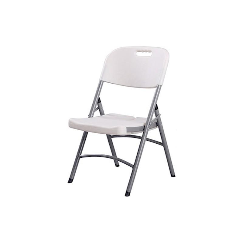 chaise pliante congres blanche. Black Bedroom Furniture Sets. Home Design Ideas