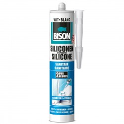 BISON Silicone sanitaire blanc