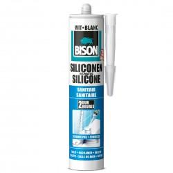 BISON Silicone sanitaire blanc