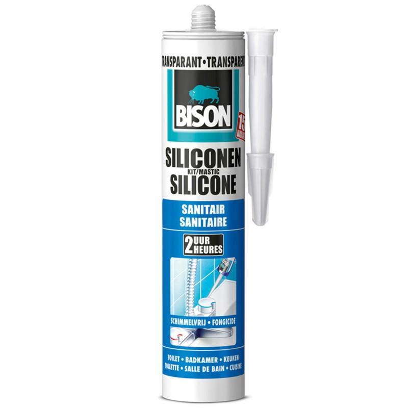 BISON Silicone sanitaire transparent