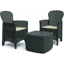 FIORE Set 2 Fauteuils + table basse