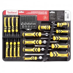 Set tournevis et embouts PEREL 52pcs