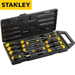 Coffret 10 tournevis STANLEY Cushiongrip MEC/PH