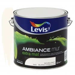 LEVIS AMBIANCE Mur extra mat Blanc Coquille 2.5L