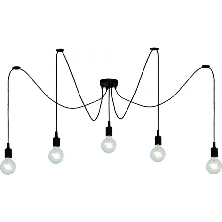 fix suspension araign e 5 lampes. Black Bedroom Furniture Sets. Home Design Ideas