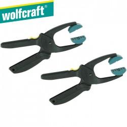 2 Pinces à cliquet WOLFCRAFT Quickfix S