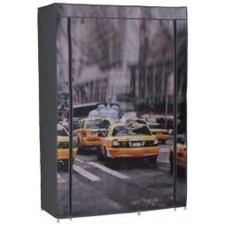 Garde-robe en tissus décor New-York