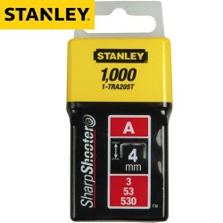 Agrafes STANLEY Type A - 4mm - 1000Pcs