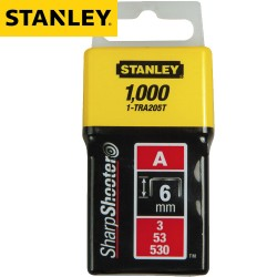 Agrafes STANLEY Type A 6mm - 1000Pcs