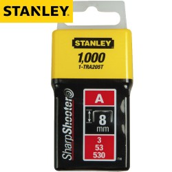 Agrafes STANLEY Type A 8mm - 1000Pcs