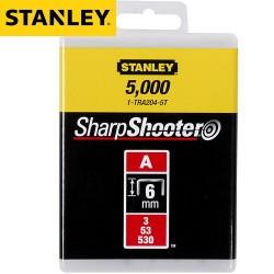 Agrafes STANLEY Type A 6mm - 5000Pcs