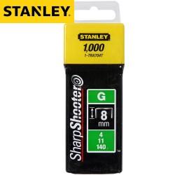Agrafes STANLEY Type G 8mm - 1000Pcs
