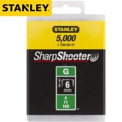Agrafes STANLEY Type G 6mm - 5000Pcs