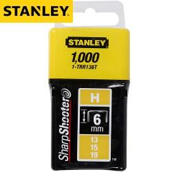 Agrafes STANLEY Type H 6mm - 1000Pcs
