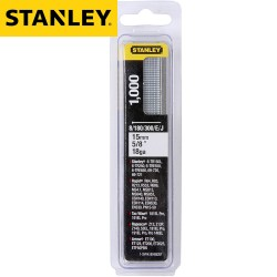Pointes STANLEY Type J 15mm - 1000pcs