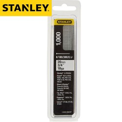 Pointes STANLEY Type J 20mm - 1000pcs