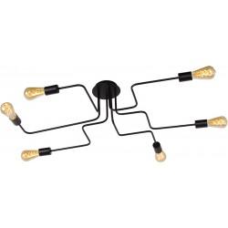 LEISTER Plafonnier 6 ampoules - noir
