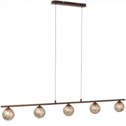 KRETA Suspension barre 5 lampes