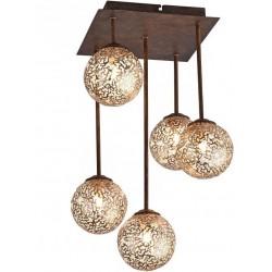 KRETA Plafonnier 5 lampes sur tiges