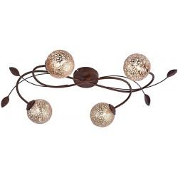KRETA Plafonnier torsadé 4 lampes