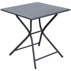 Table alu pliante GLOBE 70x70 Anthracite