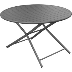 Table alu pliante GLOBE ronde 120 Anthracite