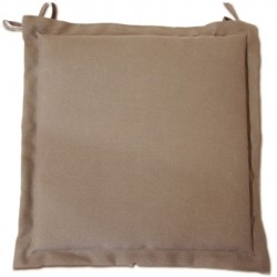 Coussin galette MARY taupe