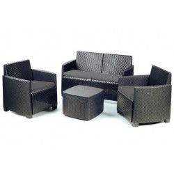 Set lounge ETNA résine anthracite