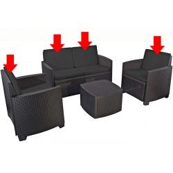 4 coussins pour set lounge ETNA