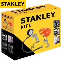 Kit 6 accessoires pneumatiques STANLEY