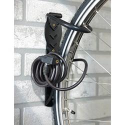 Crochet pour vélo avec platine antivol