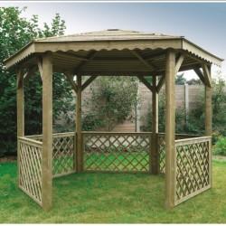 Pavillon en bois 352x305cm