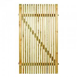 Porte de jardin en pin traité CORDOBA