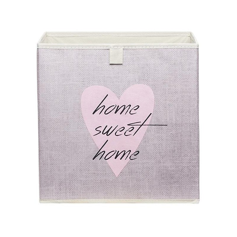 box de rangement feutrine heart. Black Bedroom Furniture Sets. Home Design Ideas