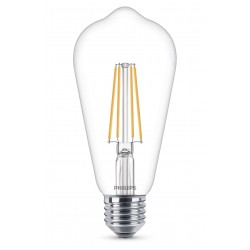 Ampoule Cône LED PHILIPS Claire ~60W WW ND