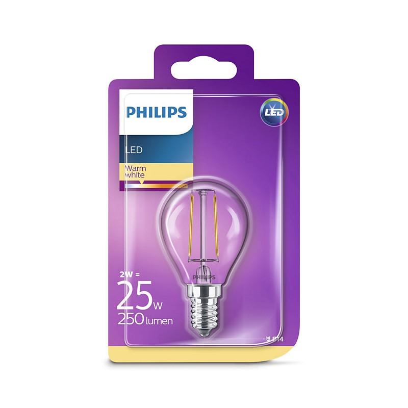 ampoule boule led philips claire e14 25w. Black Bedroom Furniture Sets. Home Design Ideas