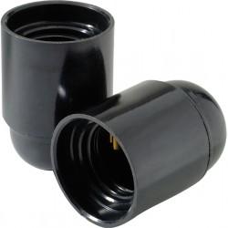 2 Sockets E27 bakélite noirs