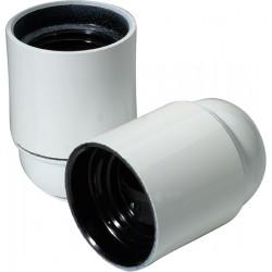 2 Sockets E27 bakélite blancs