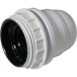Socket E27 fileté avec bague blanc