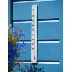 Thermomètre mural aluminium 37cm