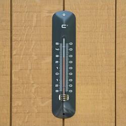 Thermomètre mural métal anthracite