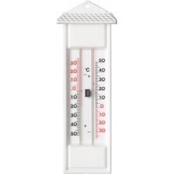 Thermomètre avec mémoire mini/maxi blanc