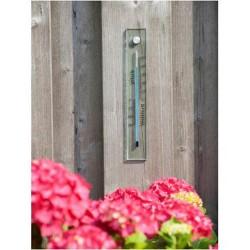 Thermomètre mural en verre dépoli 26cm