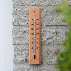 Thermomètre mural en bois naturel