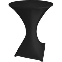 Housse pour table mange-debout noire