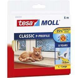 Bourrelet TESA Moll 'P' 6m Blanc