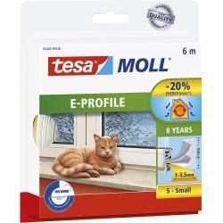 Bourrelet TESA Moll 'E' 6m Blanc