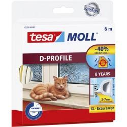 Bourrelet TESA Moll 'D' 6m Blanc